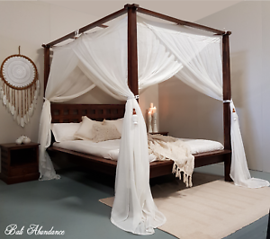 CANOPY-MIMPI-Muslin-Mosquito-Net-for-Four-Poster-Bed-King-Queen-Double-Daybed