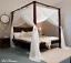 CANOPY-MIMPI-Muslin-Mosquito-Net-for-Four-Poster-Bed-King-Queen-Double-Daybed miniature 1