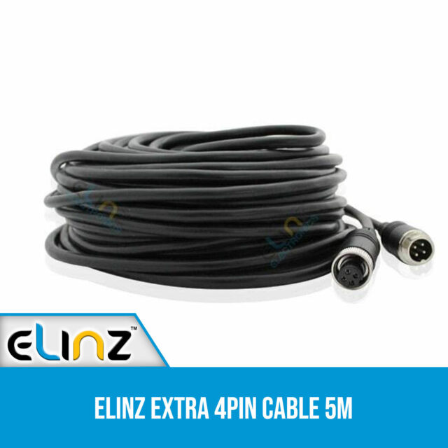 Advanced 5M 4 PIN Cable for CCD Reversing Camera Power Connector Elinz