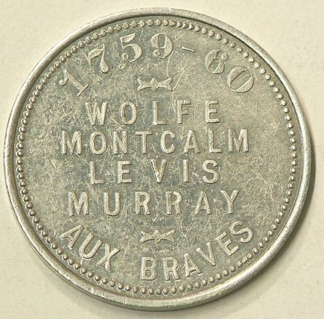 1608 1908 Champlain Ter-Centenary Quebec Medal Aluminum 36 mm #1986