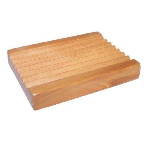 Wooden Soap Dish Storage Tray Holder Bath Shower Natural Wood Plate Bathroom