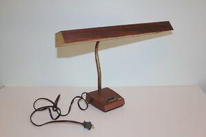 Image Is Loading Vintage 1960s Tensor Br Goose Neck Fluorescent Wood