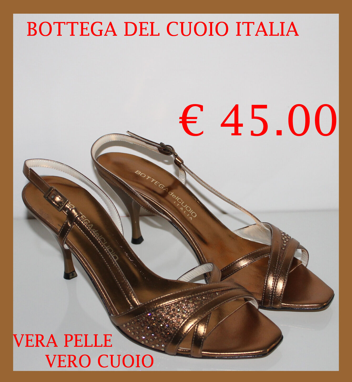 SANDALI Decoltè women ELEGANTI 100% PELLE CUOIO MADE IN ITALY NUMERI 38 39