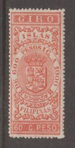 Spain revenue Stamp 12-25-20-3c  Philippines MNH Gum Cat=$15 extra nice Orange