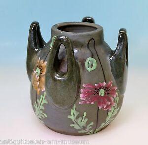Vase-Amphora-Austria-Imperial-Turn-4-Henkel-Mohndekor-Sammlerstuck-15244