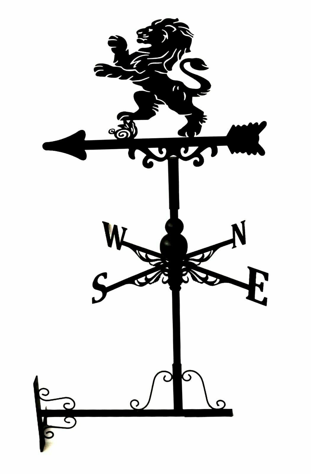 Metal Weather Vane / Wind Wheel Garden Stake British lion new Ornament decor