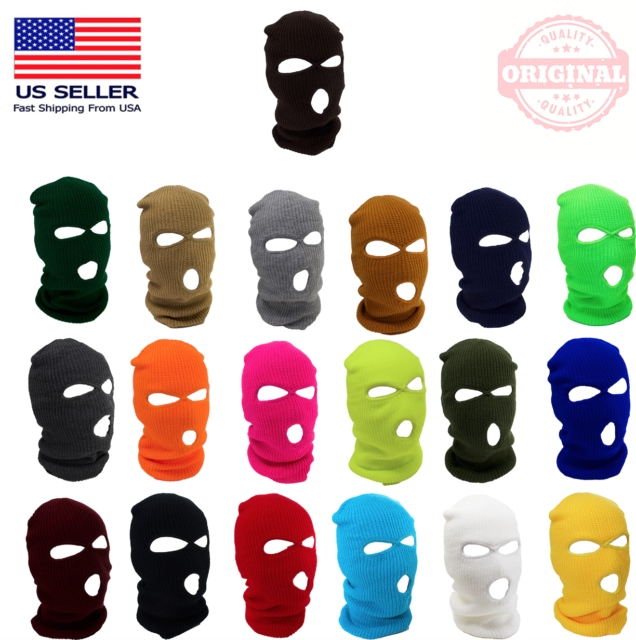 3 Pieces Camouflage Balaclava Hats Windproof Face Masks Winter Warm Hats for Outdoor Sports