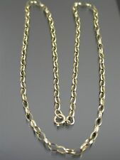 VINTAGE 9ct GOLD LONG BELCHER LINK NECKLACE CHAIN 18 inch C.1960
