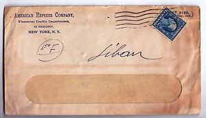 USA Palestine WWI Window Cover American Express 1919 OETA EEF Jerusalem Seal GB