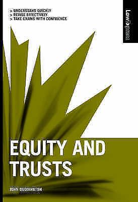 """VERY GOOD"" Law Express: Equity&Trusts 1st edition, Duddington, John, Book"
