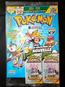 MAGAZINE-POKEMON-OFFICIEL-BOOSTER-ECHANTILLON-XY-CIEL-RUGISSANT-BLISTER-carte