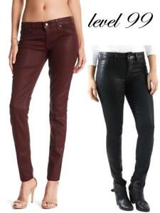 b4efff03b7d NEW WOMENS LEVEL 99 MID RISE COATED SKINNY JEANS! STRETCH JEANS ...