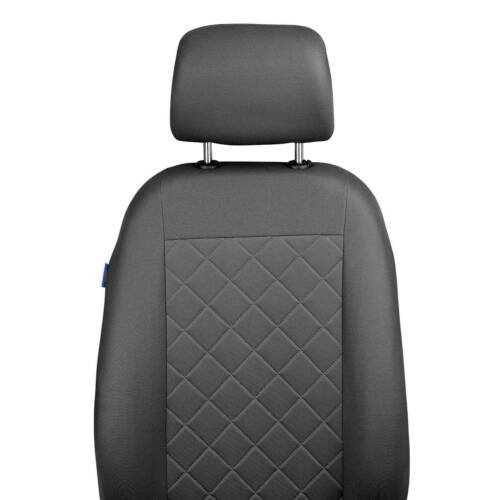 CAR SEAT COVERS FOR MITSUBISHI MONTERO FRONT SEATS GREY SQUARES