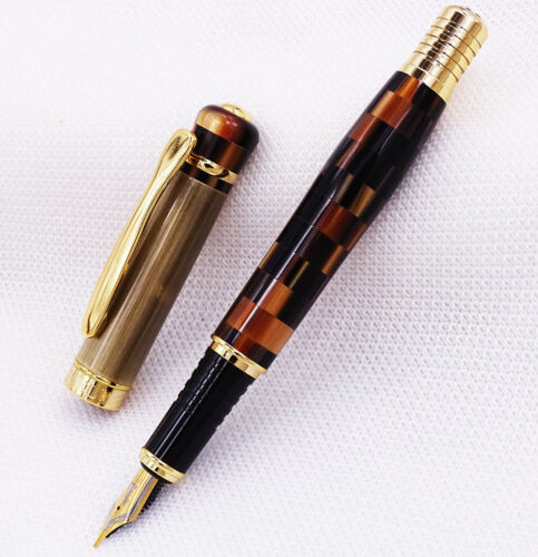 Kaigelu 336 Marble Celluloid Fountain Pen 22KGP M Nib Beautiful Pattern Gift Pen