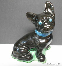Boston Terrier Ceramic Puppy Dog Hand Painted Black