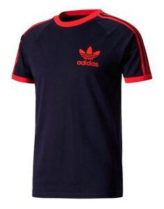 Original-Adidas-Men-039-s-Trefoil-California-Crew-Neck-Retro-Tee-Olive-S-XXL-BQ7546