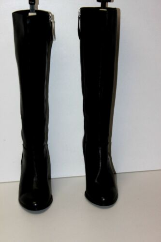 37 Eram Leather Smooth Condition T Black Boots Nuovo Heeled nqwwrzAf