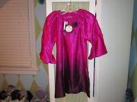 Halabaloo Girls Pink Silk Dip Dye Corsage Special Occasion Dress 3t 4t 5 $90