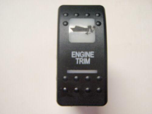 ENGINE TRIM TILT SWITCH V8D1A60B BLK WHT LENS LIGHTED FITS OUTBOARD AND I//O