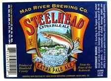 Mad River Brewing Co  STEELHEAD EXTRA PALE ALE  beer label CA 12oz Variation #2