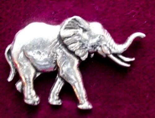 Superb Pewter  Elephant  Pin Craftsman Signed
