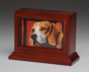 Pet Urn Peaceful Pet Memorial Keepsake Urn,Photo Box Pet Cremation Animal Urn