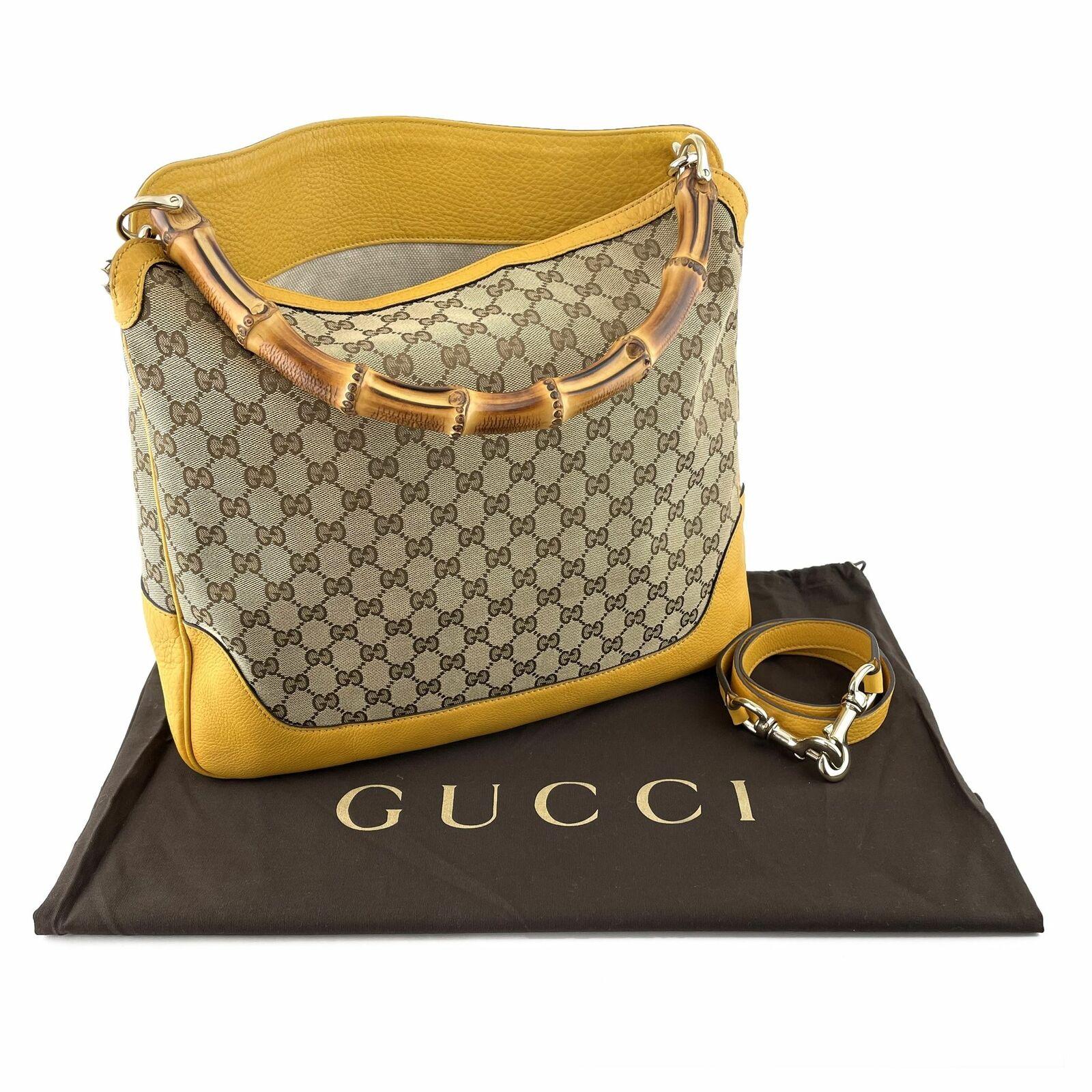 Gucci GG Canvas Diana Bamboo Shoulder Bag - Beige… - image 12