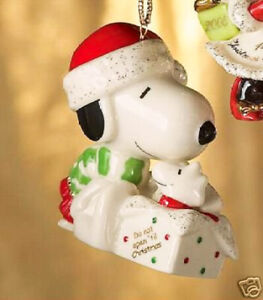 image is loading lenox peanuts a surprise for snoopy christmas ornament