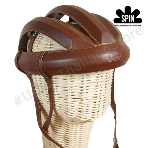 Vintage Cycling Bicycle Helmet Adult L'eroica Retro Classic Commuter Hat Brown