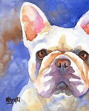 French Bulldog Art Print Signed by Artist Ron Krajewski 8x10