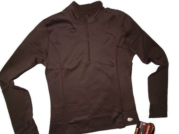 KOMBI Princess zip barrier weight Brown extreme weather base layer Shirt SMALL