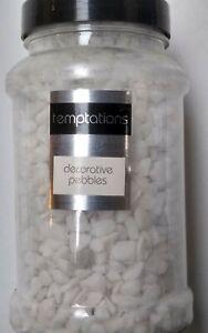 DECORATIVE COLOURED Pebbles Flower Craft Decoration Stones Rocks Gravel White