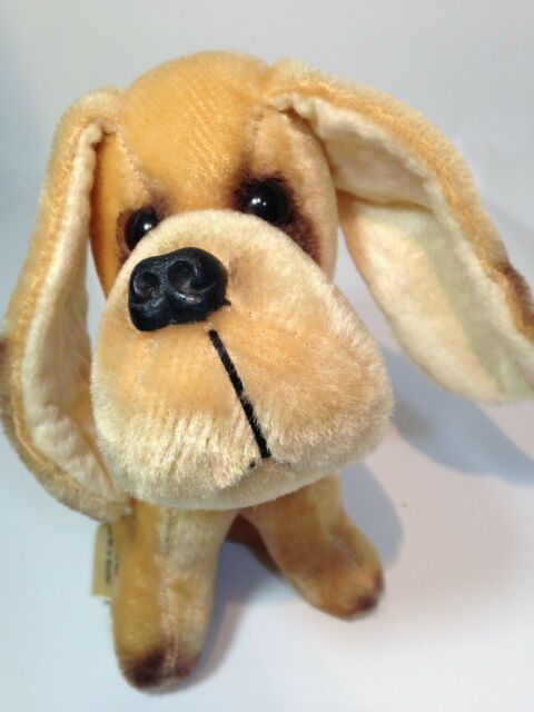 Kamar Basset Hound Dog Plush Rare Vintage Mexico Brown Stuffed