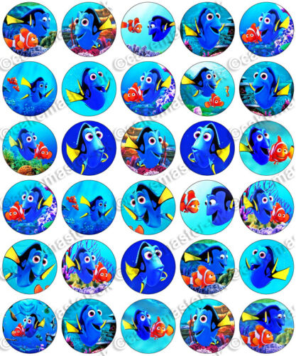 30 x trouver dory party collection nemo comestibles riz tranche papier cupcake toppers