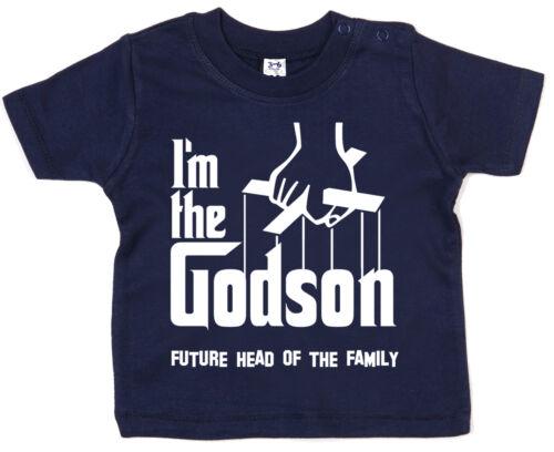 """Filleul T-shirt /""""Je suis le filleul.../"""" Drôle Bébé Garçon Baptême Cadeau le parrain"""