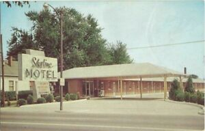 Indianapolis-IN-Indiana-old-Postcard-Skyline-Motel