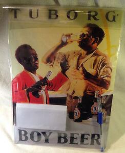 Tuborg Boy Beer Blech Werbeschild Kuchenplaner Ebay