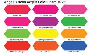 Angelus Acryl Lederfarbe Neon Popsicle Grün 118ml (105,93€/1L) Leder Schuhfarbe