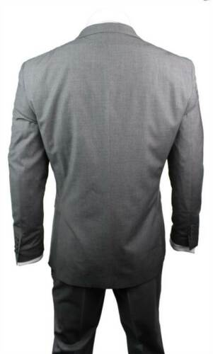 Costume Homme Slim grise à rayures self bouton 2 party de bureau ou costume de mariage UK Sto