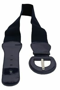 b83418c514d Women Fashion Belt Hip Waist Midnight Navy Blue Elastic Buckle ...