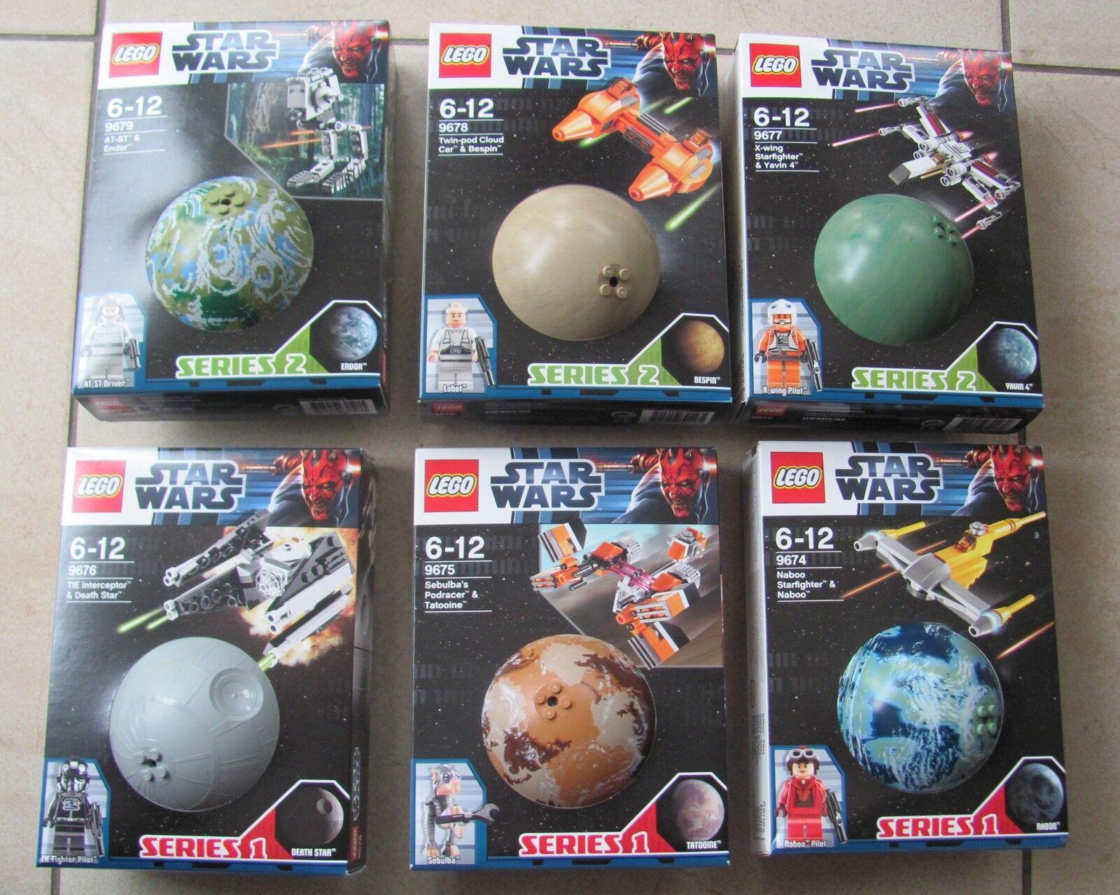 6 Lego Star Wars planeta 9674 9675 9676 9677 9678 9679 nuevo & OVP rareza rare