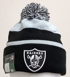 bfb814e1 Details about NEW ERA MENS NFL ON FIELD SPORT KNIT BEANIE OAKLAND RAIDERS  ES3
