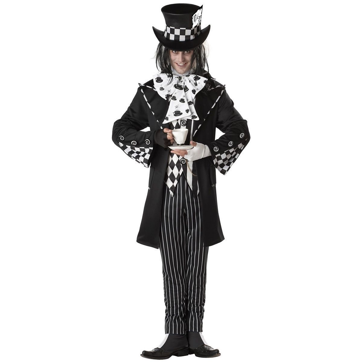 ADULT MENS DARK MAD HATTER SCARY SPOOKY HALLOWEEN COSTUME