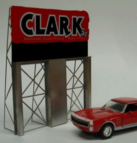 O HO Scale Clark Bar Animated Neon Sign - Miller Engineering