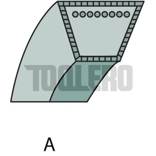 2wd spa 2860, Correas trapezoidales para Stiga Park 100 combi 3 12,7 x 2860