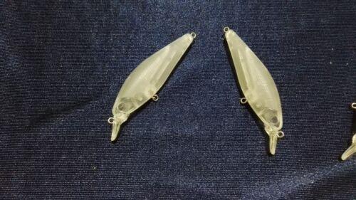 10pcs Unpainted Crankbait Fishing Lure Body 3 1//2Inch 1//3 OZ Blank lures E002