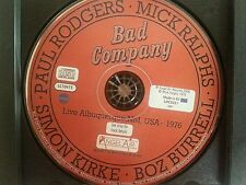 Bad Company Live in Albuquerque 1976 (In Their PRIME) 2 CD's only/no inserts.