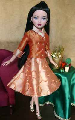 Charming Dress Doll Clothes Sewing Pattern for Ellowyne Wilde ,Tonner