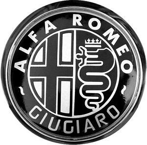 Details about Custom Black GIUGIARO Alfa Romeo Badge Repair Kit
