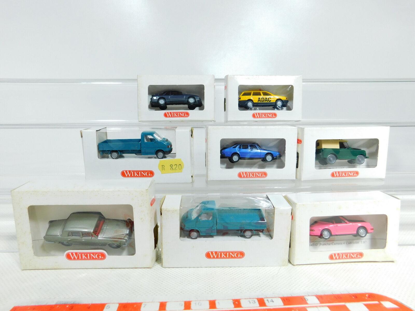 Bx363-0, 5  8x Wiking 1 87 h0 Modèle  100 Land Rover  165 porsche etc, Neuw  neuf dans sa boîte